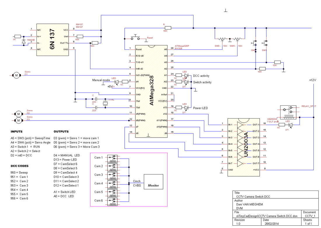 Security Camera Switcher Circuit Diagram - Free Car Wiring Diagrams •